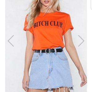 Nastygal bitch club t shirt